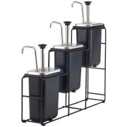 Server WireWise 3 Tiered Jar and Condiment Pump Station, 26.5 x 5.25 x 24 inch -- 1 each