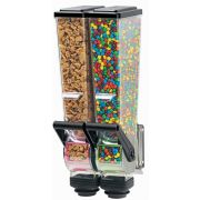 Server SlimLine Double Dry Food and Candy Dispenser with Bracket, 2 Liter -- 1 each