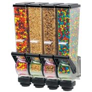Server SlimLine Quad Dry Food and Candy Dispenser with Bracket, 2 Liter -- 1 each