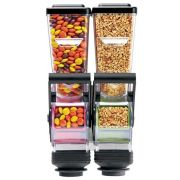 Server SlimLine Wall Mount Double Dry Food and Candy Dispenser with Bracket, 1.4 Liter -- 1 each