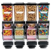 Server SlimLine Wall Mount Quad Dry Food and Candy Dispenser with Bracket, 1.4 Liter -- 1 each