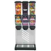 Server SlimLine Countertop Triple Dry Food and Candy Dispenser with Bracket, 1.4 Liter -- 1 each