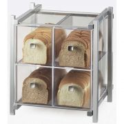 Cal Mil Silver One by One 4 Drawer Acrylic Bread Case, 14 x 14.75 x 15.625 inch -- 1 each.