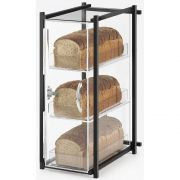 Cal Mil Black One by One 3 Tier Acrylic Bread Case, 9.5 x 14.125 x 19.625 inch -- 1 each.