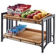 Cal Mil 2 Tier Iron Flat Black Stand, 26.25 x 12.5 x 27.5 inch -- 1 each.
