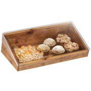 Cal Mil Madera Reclaimed Wood Bin with Lid, 20 x 11 x 6.5 inch -- 1 each.