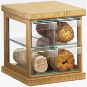 Cal Mil Bamboo 4 Drawer Bread Case, 16.5 x 15 x 15 inch -- 1 each.
