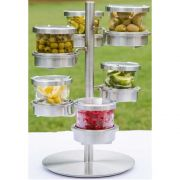 Cal Mil Chilled Mixology 32 Ounce 6 Tier Jar with Hinged Lid Revolving Display, 15 x 15 x 17.25 inch -- 1 each.