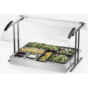 Cal Mil Black Double Face Table Mount Buffet Guard, 49.25 x 27.25 x 21.5 inch -- 1 each.