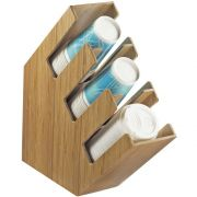 Cal Mil Slanted Cup/Lid and Straw Organizer, 4.375 x 17 x 16.125 inch -- 1 each.
