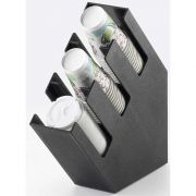Cal Mil 3 Section Slanted Slated Cup/Lid and Straw Organizer, 4.375 x 16.25 x 16.25 inch -- 1 each.
