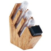 Cal Mil Madera Cup/Lid and Straw Organizer, 5.5 x 19.75 x 20 inch -- 1 each.