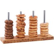 Cal Mil Bamboo 4 Rods Donut/Bagel Display, 5 x 20 x 7 inch -- 1 each.