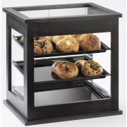 Cal Mil Midnight Bamboo Attendant Serve Bakery Display Case, 21.625 x 16.25 x 21.375 inch -- 1 each.