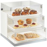 Cal Mil Luxe Three Step White Stainless Steel Trim Bread Case Display, 19 x 20 x 19 inch -- 1 each.