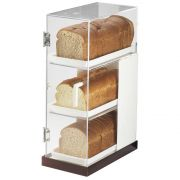 Cal Mil Luxe Three Tier Frost White Stainless Steel Trim Bread Case, 7 x 14 x 20.25 inch -- 1 each.