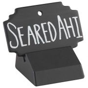 Cal Mil Square Black Write On Sign, 3 x 2 inch -- 6 per case.