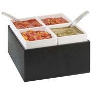 Cal Mil Chilled Salsa/Dressing Server, 10.5 x 10.5 x 7 inch -- 1 each.
