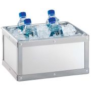 Cal Mil Urban Stainless Steel Ice Housing, 12.75 x 10.75 x 6.75 inch -- 1 each.