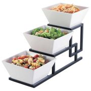 Cal Mil Union 3 Step Square Bowl Display, 6.5 x 19 x 12 inch -- 1 each.