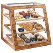 Cal Mil Madera Slanted 3 Tier Bakery Display Case, 21 x 21.5 x 21.5 inch -- 1 each.
