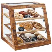 Cal Mil Madera Slanted Self Serve 3 Tier Bakery Display Case, 21 x 21.5 x 21.5 inch -- 1 each.
