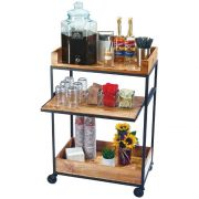 Cal Mil Madera Beverage Cart, 27 x 16 x 41 inch -- 1 each.