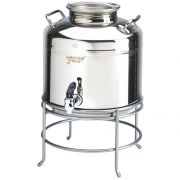 Cal Mil Stainless Steel Beverage Dispenser with Stand, 14 x 14 x 18 inch -- 1 each.