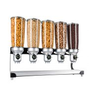 Cal Mil Beechwood Free Flow 5 Cylinder Cereal Dispenser, 12.75 x 11 x 25.625 inch -- 1 each.