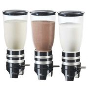 Cal Mil Wall Mount Triple Cylinder Click Dispenser, 15.75 x 7.25 x 12 inch -- 1 each.
