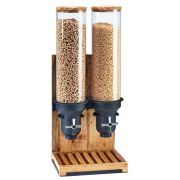 Cal Mil Madera Double Cylinder Cereal Dispenser, 11 x 8.75 x 26.5 inch -- 1 each.