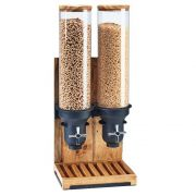 Cal Mil Madera Triple Cylinder Cereal Dispenser, 19.25 x 9.75 x 26.5 inch -- 1 each.