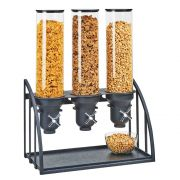 Cal Mil Mission Turn and Serve Black 3 Cylinder Cereal Dispenser, 19.5 x 10.5 x 26 inch -- 1 each.