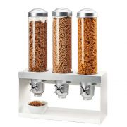 Cal Mil Luxe Turn and Serve 3 Cylinder Cereal Dispenser, 20.5 x 7.25 x 27 inch -- 1 each.
