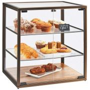 Cal Mil Square 3 Tray Vintage Bakery Case with Wood Base, 21 x 17 x 23.25 inch -- 1 each.