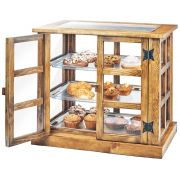 Cal Mil Madera 13 x 18 inch 3 Tray Paneled Bakery Case, 17 x 25 x 23 inch -- 1 each.