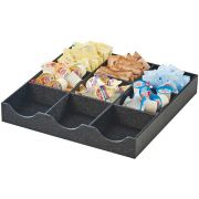 Cal Mil Black 9 Section Classic Condiment Organizer, 12.5 x 12.5 x 2 inch -- 1 each.