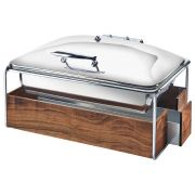 Cal Mil Chrome Mid Century Chafer with Lid, 23 x 17.5 x 13.75 inch -- 1 each.