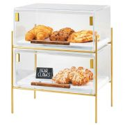 Cal Mil Brass Mid Century Pastry Case, 16.25 x 11.25 x 18 inch -- 1 each.