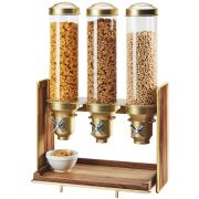Cal Mil Mid Brass Century 3 Section Cereal Dispenser, 19.5 x 12 x 28.5 inch -- 1 each.