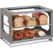 Cal Mil Oak Ashwood Gray 4 Section Bread Display, 20 x 13.5 x 15 inch -- 1 each.