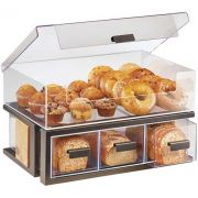 Cal Mil Sierra Bronze Bread Display Bin with Drawer, 22.5 x 14.75 x 13.75 inch -- 1 each.