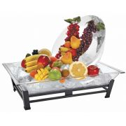 Cal Mil Black Small Metal Ice Carving Pedestal, 28.5 x 20.5 x 9.875 inch -- 1 each.