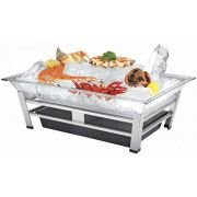 Cal Mil Platinum Large Ultimate Ice Housing Display with Led, 24 x 48 x 10 inch -- 1 each.