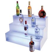 Cal Mil Frost Lit Step Bottle Display Riser, 30 x 18 x 18 inch -- 1 each.