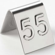 American Metalcraft Mini Stainless Steel No.1-99 Number Tent Set, 1 inch Square -- 1 set.