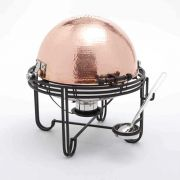 American Metalcraft Mesa Roll Top Round Chafer with Hammered Copper Cover, 6 Quart -- 1 each.