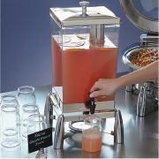 American Metalcraft Evolution Stainless Steel Square Juice Dispenser, 12 Quart -- 1 each.