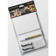 American Metalcraft Large White Mini Chalk Card Set -- 15 set per case.
