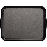 Cambro Black with Pebbled Black Non-Skid Versa Camtray with Handles, 18 x 14 inch -- 12 per case.